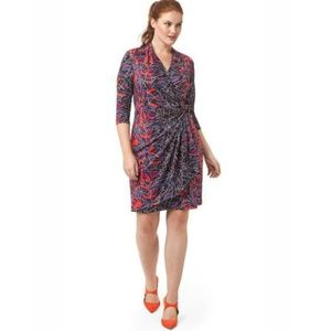 Isabel + Alice, Midnight Foliage Wrap Dress, XL